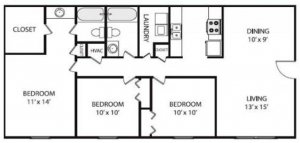 3 Bedrooms 2 Bathrooms Apartment for rent at Hillwood Pointe Apartments in Nashville, TN