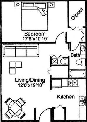 1 Bedroom 1 Bathroom Apartment for rent at Lakes At Harbison Apartments in Columbia, SC