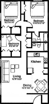 3 Bedrooms 2 Bathrooms Apartment for rent at Lakes At Harbison Apartments in Columbia, SC