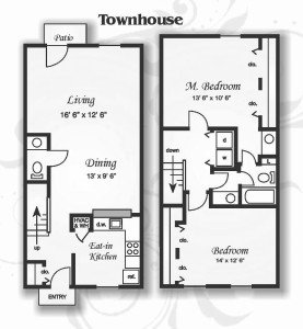 2 Bedrooms 1 Bathroom Apartment for rent at Northwoods Townhomes in Cary, NC