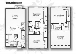3 Bedrooms 2 Bathrooms Apartment for rent at Northwoods Townhomes in Cary, NC