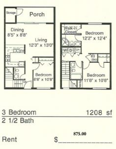 3 Bedrooms 2 Bathrooms Apartment for rent at Casablanca West in Gainesville, FL