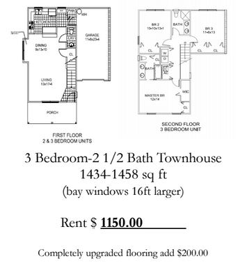 3 Bedrooms 3 Bathrooms Apartment for rent at Oak Gate in Gainesville, FL