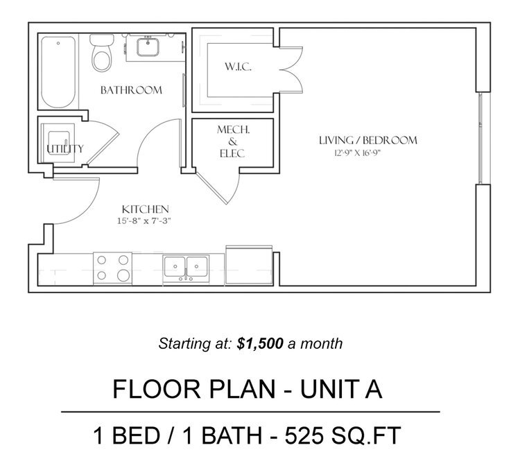 1 Bedroom 1 Bathroom Apartment for rent at The Braxton in Austin, TX