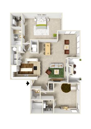 2 Bedrooms 2 Bathrooms Apartment for rent at Barrington Mill in Marietta, GA