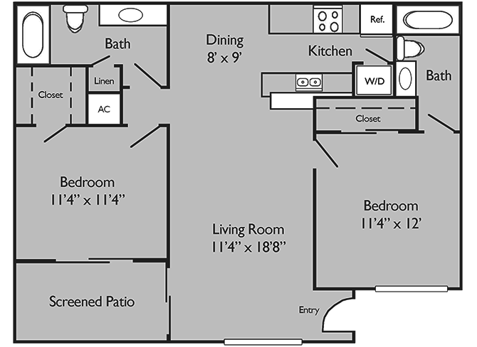 2 Bedrooms 2 Bathrooms Apartment for rent at Paddock Place Apartments in Ocala, FL