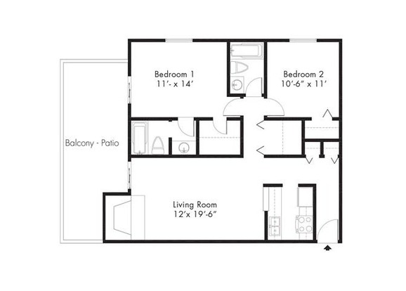 2 Bedrooms 2 Bathrooms Apartment for rent at French Quarter in Denver, CO