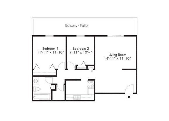 2 Bedrooms 1 Bathroom Apartment for rent at French Quarter in Denver, CO
