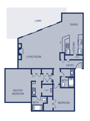 2 Bedrooms 2 Bathrooms Apartment for rent at Solaris in Austin, TX