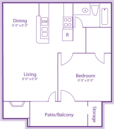 1 Bedroom 1 Bathroom Apartment for rent at The Violet in Austin, TX
