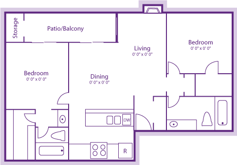 2 Bedrooms 2 Bathrooms Apartment for rent at The Violet in Austin, TX