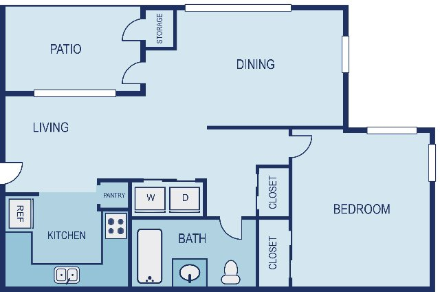 1 Bedroom 1 Bathroom Apartment for rent at Vue in Austin, TX