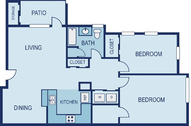 2 Bedrooms 1 Bathroom Apartment for rent at Vue in Austin, TX