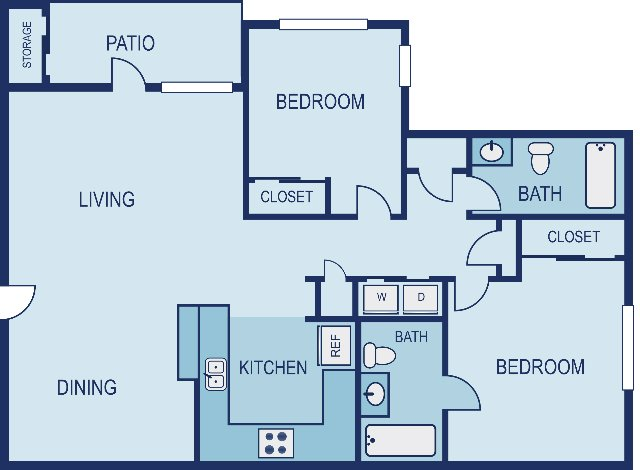 2 Bedrooms 2 Bathrooms Apartment for rent at Vue in Austin, TX