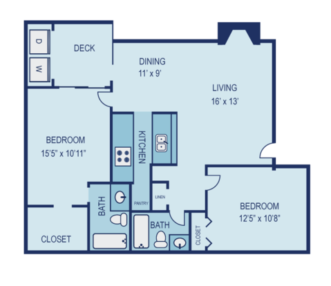 2 Bedrooms 2 Bathrooms Apartment for rent at Laurel Woods in Austin, TX
