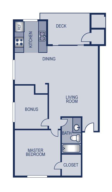 2 Bedrooms 1 Bathroom Apartment for rent at Solaris in Austin, TX