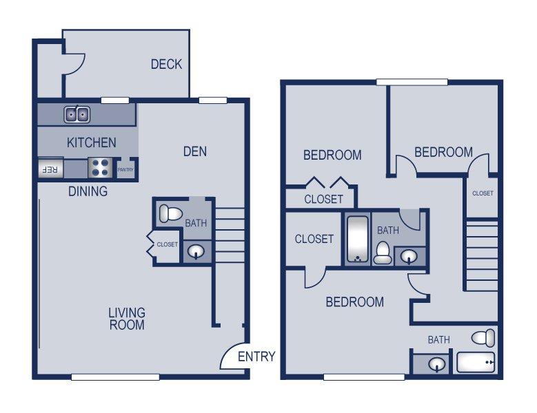 3 Bedrooms 2 Bathrooms Apartment for rent at Solaris in Austin, TX