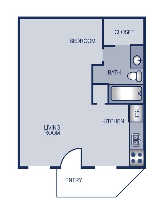 Studio 1 Bathroom Apartment for rent at Solaris in Austin, TX