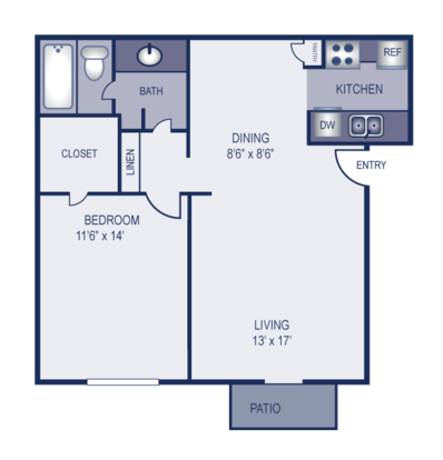 1 Bedroom 1 Bathroom Apartment for rent at Elevation in Austin, TX