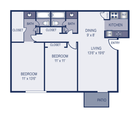2 Bedrooms 2 Bathrooms Apartment for rent at Elevation in Austin, TX