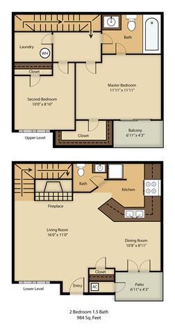 2 Bedrooms 1 Bathroom Apartment for rent at Balcones Club in Austin, TX