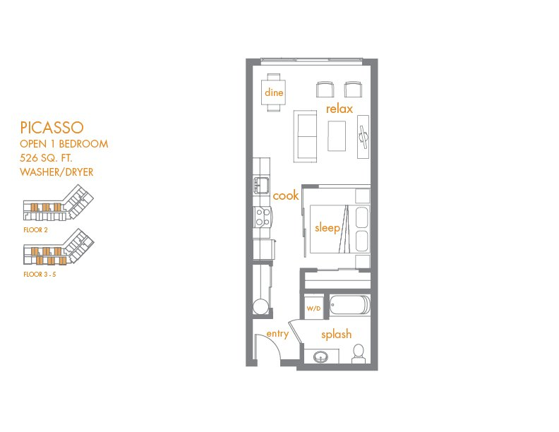 Studio 1 Bathroom Apartment for rent at Canvas Apartments in Seattle, WA
