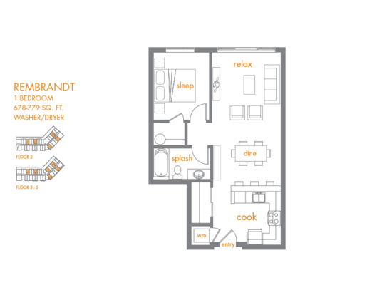 1 Bedroom 1 Bathroom Apartment for rent at Canvas Apartments in Seattle, WA