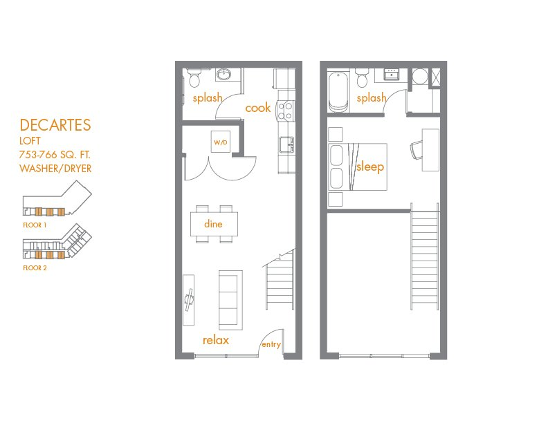 1 Bedroom 2 Bathrooms Apartment for rent at Canvas Apartments in Seattle, WA