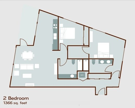 2 Bedrooms 2 Bathrooms Apartment for rent at Circa Green Lake in Seattle, WA