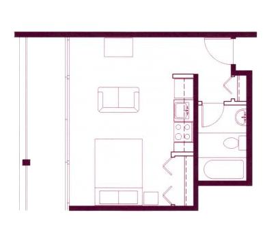 Studio 1 Bathroom Apartment for rent at Cosmopolitan Apartments in Seattle, WA