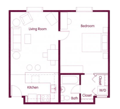 1 Bedroom 1 Bathroom Apartment for rent at Cosmopolitan Apartments in Seattle, WA
