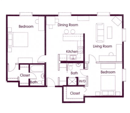 2 Bedrooms 2 Bathrooms Apartment for rent at Cosmopolitan Apartments in Seattle, WA