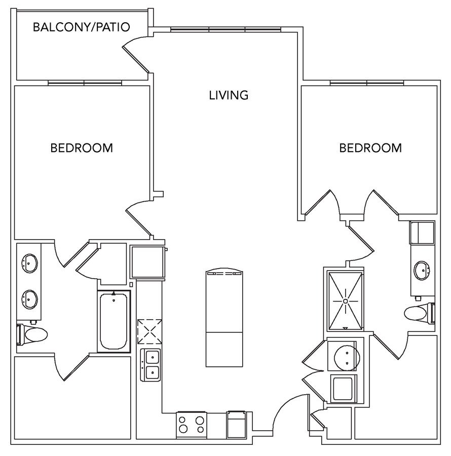 2 Bedrooms 2 Bathrooms Apartment for rent at Encore At Forest Park in St Louis, MO