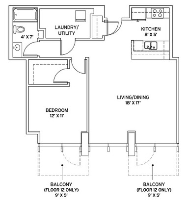 1 Bedroom 1 Bathroom Apartment for rent at Pointe 400 in St Louis, MO