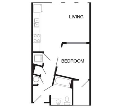 Studio 1 Bathroom Apartment for rent at Cortona At Forest Park in St Louis, MO