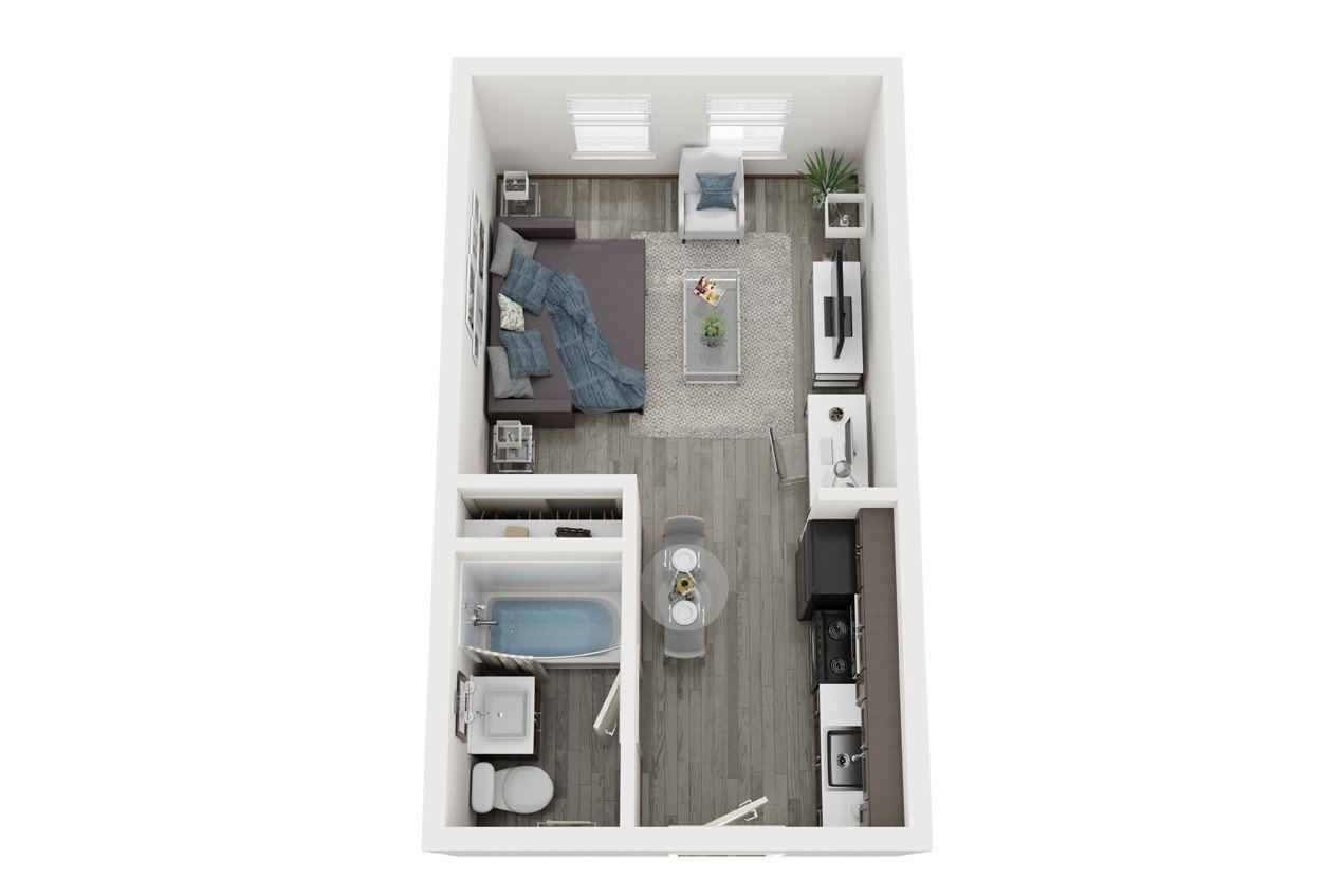 Studio 1 Bathroom Apartment for rent at The Vine On 8Th in Las Vegas, NV