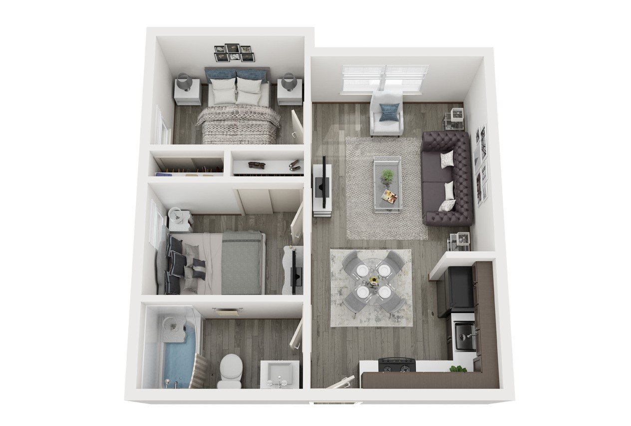 2 Bedrooms 1 Bathroom Apartment for rent at The Vine On 8Th in Las Vegas, NV