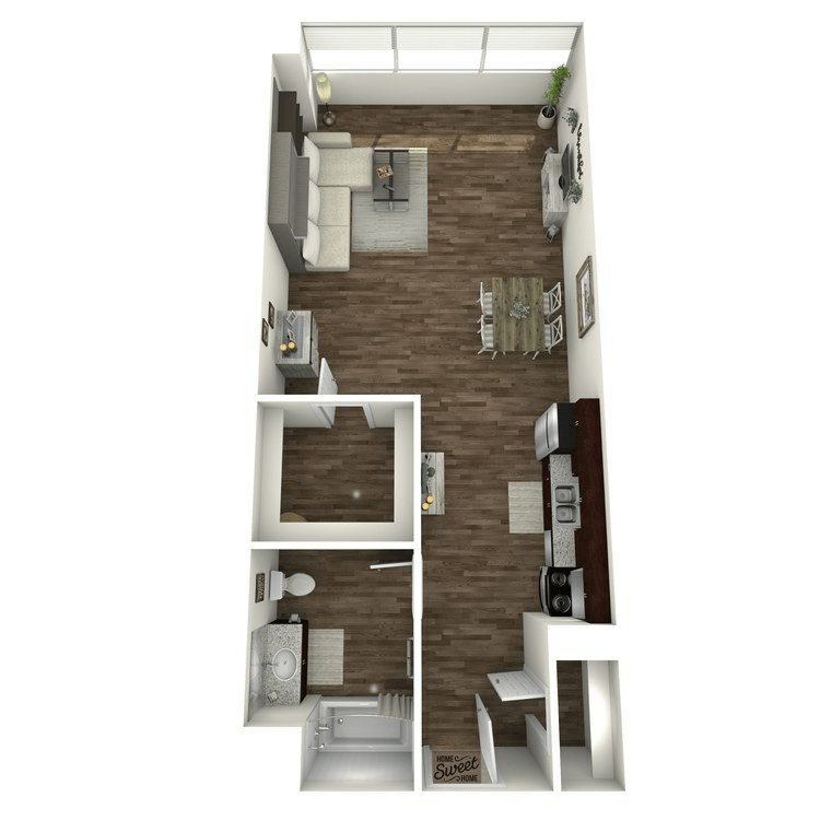 Studio 1 Bathroom Apartment for rent at Ensemble in Castle Hills, TX