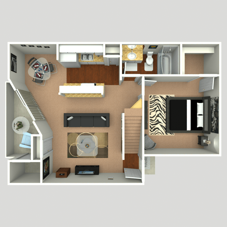 1 Bedroom 1 Bathroom Apartment for rent at Firefly in Dallas, TX
