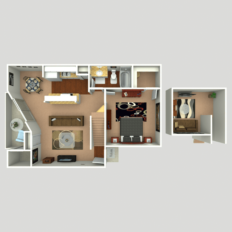 2 Bedrooms 1 Bathroom Apartment for rent at Firefly in Dallas, TX