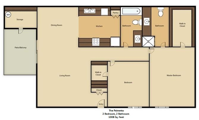 2 Bedrooms 2 Bathrooms Apartment for rent at The Colony in Phoenix, AZ