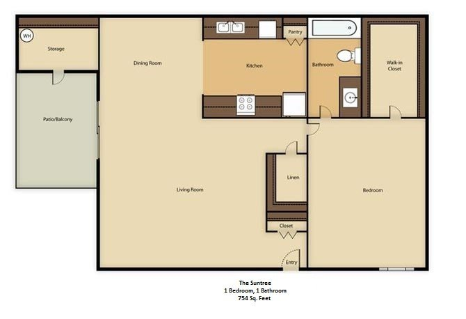 1 Bedroom 1 Bathroom Apartment for rent at The Colony in Phoenix, AZ
