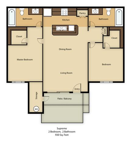2 Bedrooms 2 Bathrooms Apartment for rent at Agave Court in Phoenix, AZ