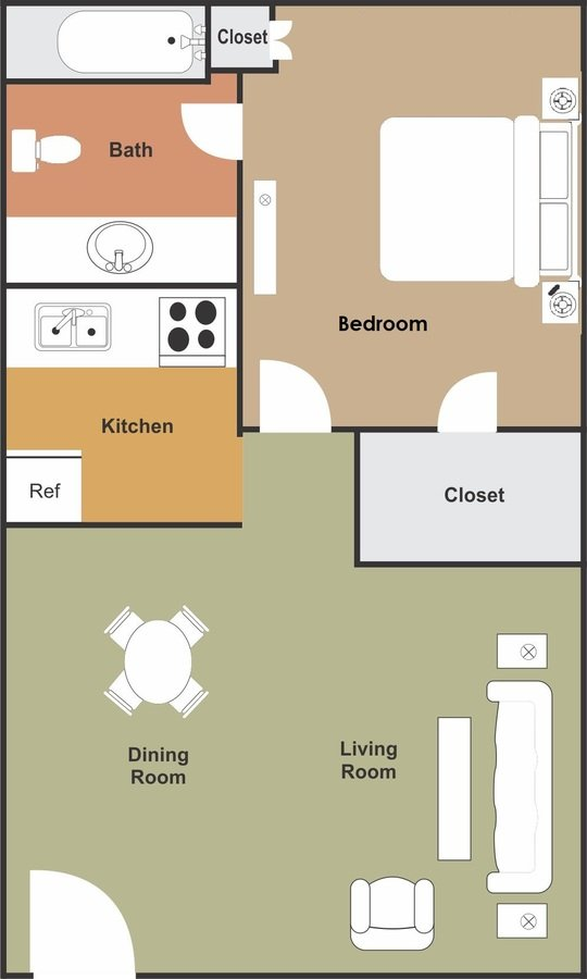 1 Bedroom 1 Bathroom Apartment for rent at Granada Lakes in Tempe, AZ