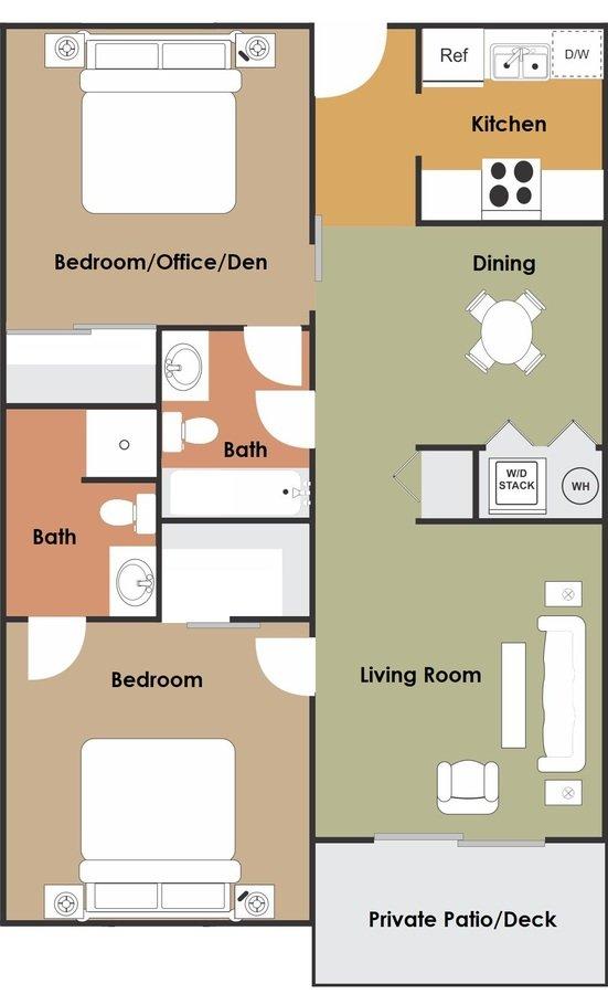 2 Bedrooms 2 Bathrooms Apartment for rent at Granada Lakes in Tempe, AZ