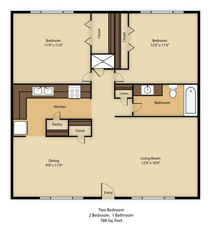 2 Bedrooms 1 Bathroom Apartment for rent at Fort Lowell Apartments in Tucson, AZ