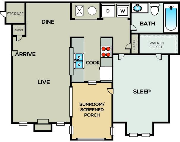 1 Bedroom 1 Bathroom Apartment for rent at Radius Sandy Springs in Atlanta, GA