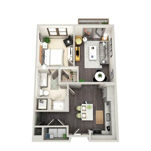 1 Bedroom 1 Bathroom Apartment for rent at Radius West Midtown in Atlanta, GA