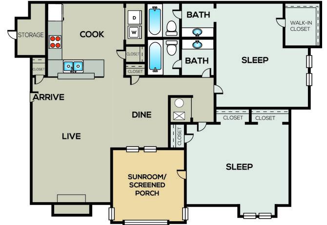 2 Bedrooms 2 Bathrooms Apartment for rent at Radius Sandy Springs in Atlanta, GA