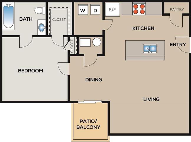 1 Bedroom 1 Bathroom Apartment for rent at Radius At West Ashley in Charleston, SC